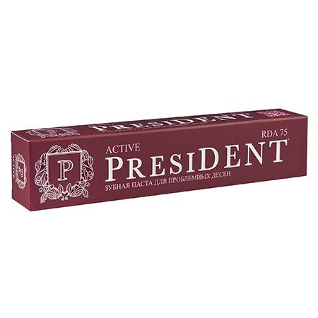 Зубная паста президент актив при кровоточивости десен president