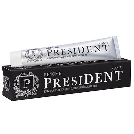 Лечебно-профилактическая зубная паста president renome пленка тонировочная president 5% 0 5м х 3м