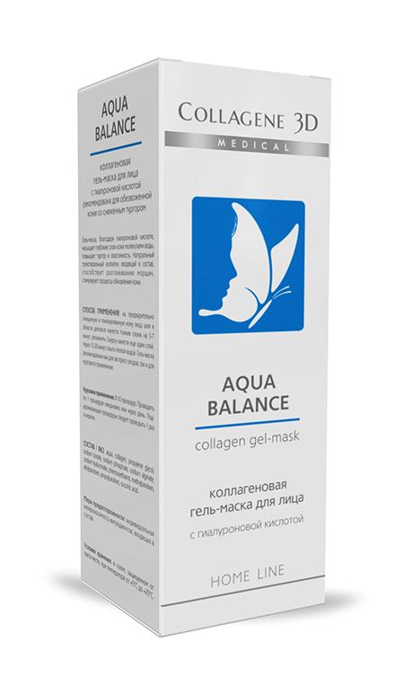 """Гель-маска коллагеновая с гиалуроновой кислотой """"aqua balance"""" medical collagene от DeoShop.ru"""