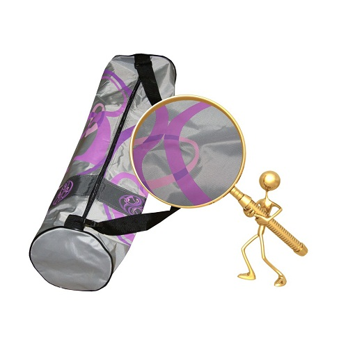 Сумка для коврика сурья намаскар (серо-фиолетовая)