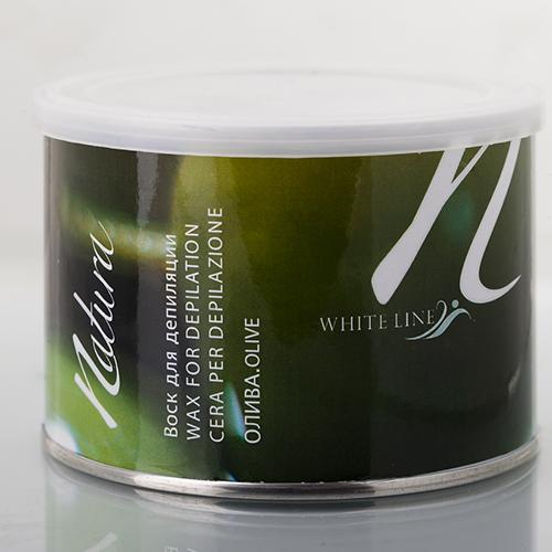 Теплый воск white line natura олива в банке (White Line)