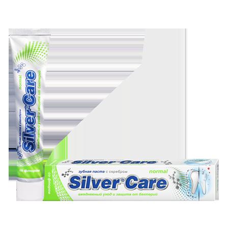 Зубная паста normal со фтором для взрослых silver care 26075