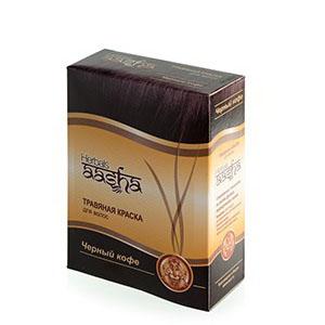Травяная краска для волос на основе индийской хны (цвет черный кофе) ааша ааша хербалс краска травяная для волос золотисто коричневый