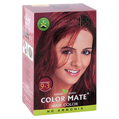 Henna Industries Pvt Ltd Натуральная краска для волос на основе хны color mate (тон 9.3, бургундия) без аммиака D6695