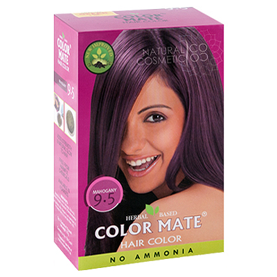 Henna Industries Pvt Ltd Натуральная краска для волос на основе хны color mate (тон 9.5, красное дерево) без аммиака D6697