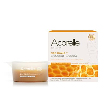 Нежный воск для депиляции деликатных зон пчелиное молочко acorelle (Acorelle)