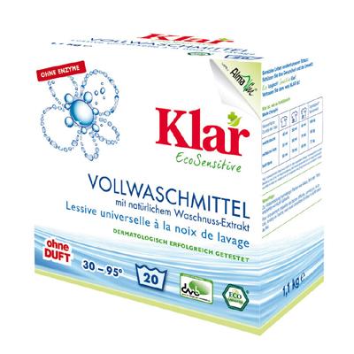 Стиральный порошок на мыльном орехе для белого и прочноокрашенного белья гипоаллергенный (1,1 кг) klar