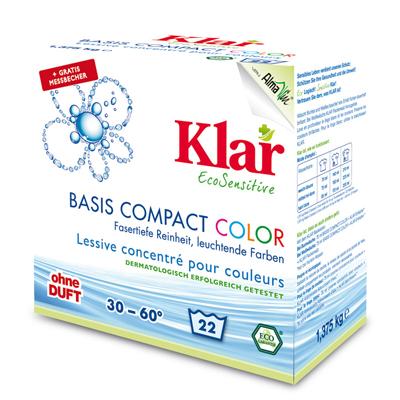 Порошок для стирки цветного белья гипоаллергенный (1,375 кг) klar