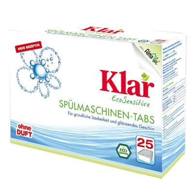 Таблетки для посудомоечных машин гипоаллергенные (25 шт. х 20 гр.) klar