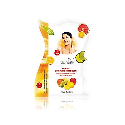 Муляжная маска омолаживающая с фруктовыми кислотами для лица и шеи тианде (ТианДе)