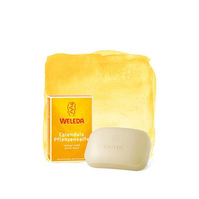 Растительное мыло с календулой и лекарственными травами weleda 9894