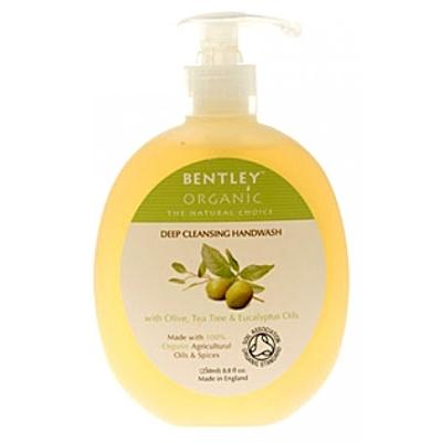 Мыло жидкое. глубокоочищающее. с оливой, чайным деревом и эвкалиптом. bentley organic