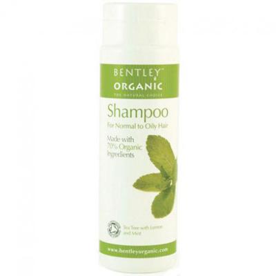 Шампунь для нормальных и жирных волос. чайное дерево, лимон и мята bentley organic