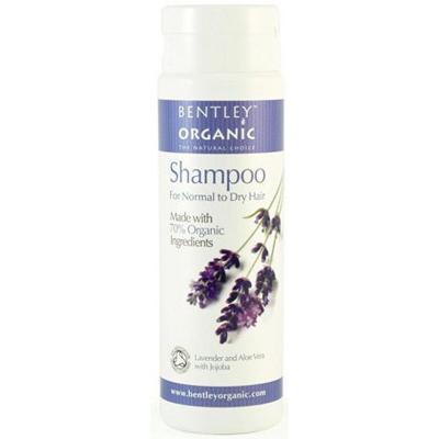 Шампунь для нормальных и сухих волос. лаванда, алоэ и жожоба. bentley organic