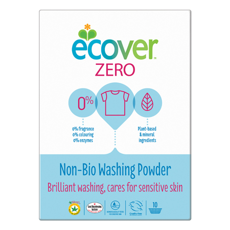 Экологический стиральный порошок-ультраконцентрат 750 гр zero non bio ecover