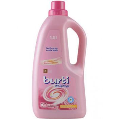 Жидкое средство для стирки изделий из шерсти wollpflege 1.5л burti