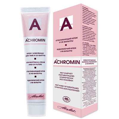 Отбеливающий крем от пигментных пятен ахромин (achromin)