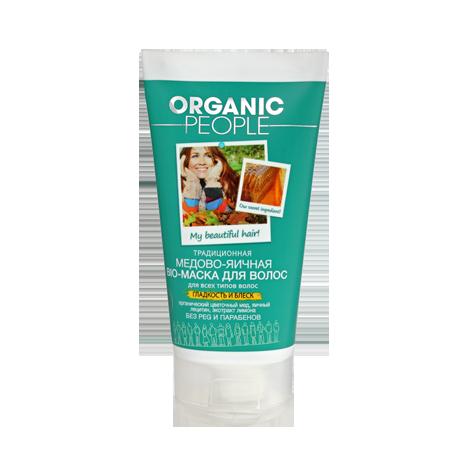 Маска-био для волос медово-яичная organic people