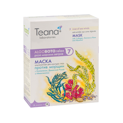 Маска против морщин для контура глаз «роза морских ветров» teana (Teana)