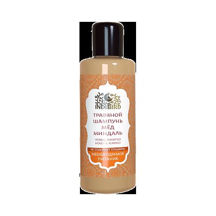 Травяной аюрведический шампунь мед&миндаль для окрашенных волос (Амрита)