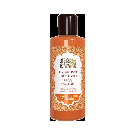 Травяной аюрведический шампунь мед&ваниль для всех типов волос