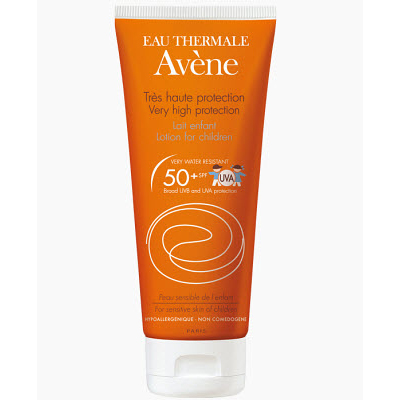 Солнцезащитное молочко для детей spf50 + sun care, 100 мл avene (Avene)