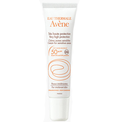 Солнцезащитный крем для чувствительных зон spf50+ sun care, 15 гр avene (Avene)