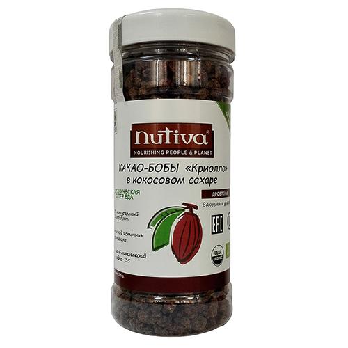 Купить со скидкой Кусочки какао бобов в кокосовом сахаре nutiva