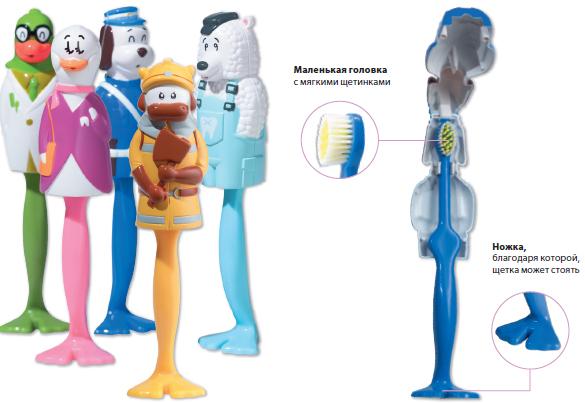 Детская зубная щетка kid?s brush bull (в футляре в виде быка) miradent/docdont