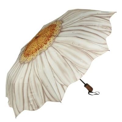 Складной зонт автомат цветок ромашка galleria (Galleria)