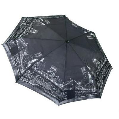 Складной зонт автомат с изображением ночного вида города нью-йорка galleria 33010