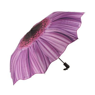 Складной зонт автомат цветок фиолетовая гербера galleria недорого