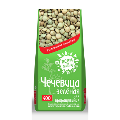 Чечевица зелёная для проращивания, всем на пользу