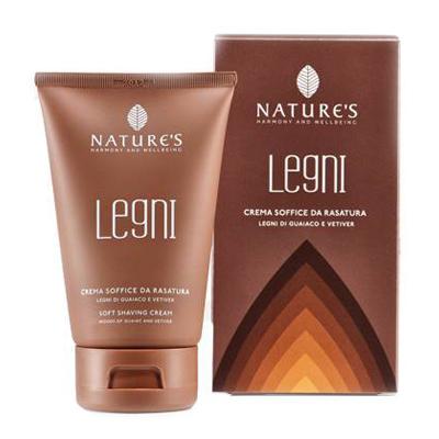 Legni крем для бритья мягкий с гваяковым деревом и ветивером natures
