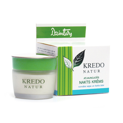 Kredo natur ночной восстанавливающий крем для нормальной кожи лица и шеи dzintars (Dzintars)