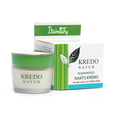 Kredo natur регенерирующий ночной крем для сухой кожи лица и шеи dzintars (Dzintars)