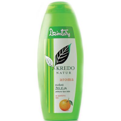 Kredo natur aroma гель для душа с апельсиновым маслом для любого типа кожи dzintars (Dzintars)