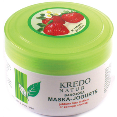 Kredo natur питательная маска-йогурт для любого типа волос с ароматом клубники dzintars 37034