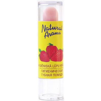 Natural aroma гигиеническая помада с ароматом клубники dzintars