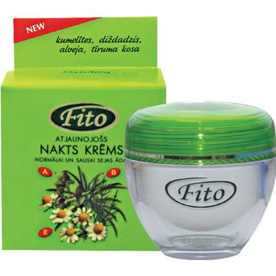 Fito ночной восстанавливающий крем для нормальной и сухой кожи лица dzintars 21750
