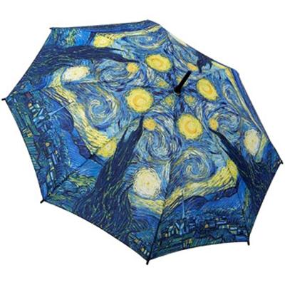 Зонт-трость по картине ван гога звездная ночь galleria (Galleria)
