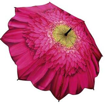 Зонт-трость цветок малиновая гербера galleria (Galleria)