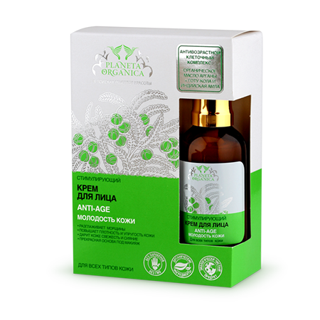 Крем для лица anti-age для всех видов кожи planeta organica (Planeta Organica)