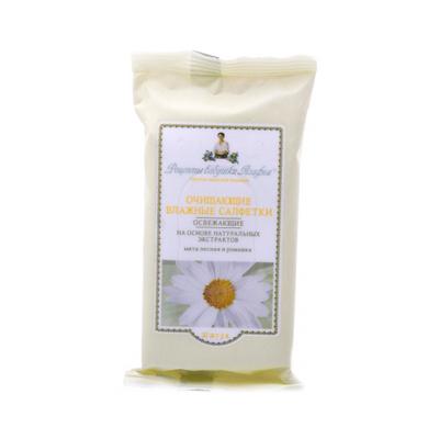 Влажные салфетки освежающие мята лесная и ромашка 10шт. рецепты бабушки агафьи (Рецепты Бабушки Агафьи)