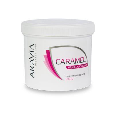 Карамель для депиляции ванильно-сливочная плотной консистенции aravia professional 1013
