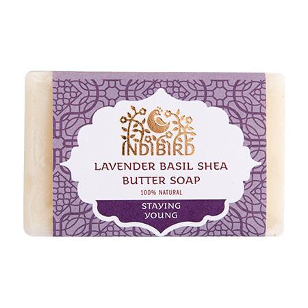 Аюрведическое мыло лаванда базилик с масло ши амрита