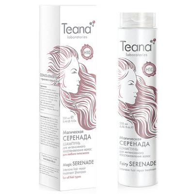 Шампунь для интенсивного восстановления волос с пантенолом и кератином teana (Teana)
