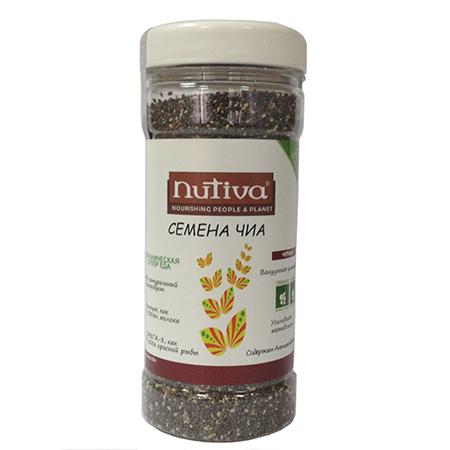 Органические семена чиа черные organic chia seeds nutiva