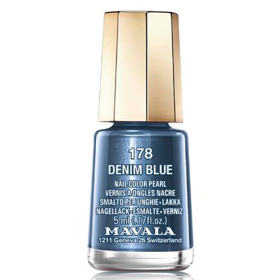 Лак для ногтей (тон 178 глянцевый синий/denim blue) mavala (Mavala)