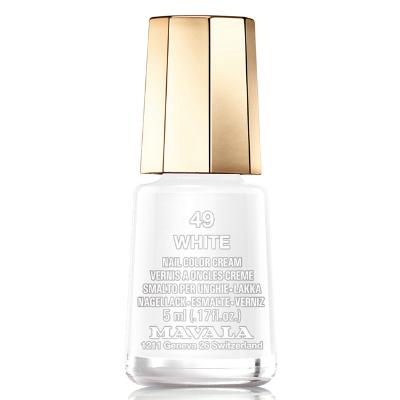 Лак для ногтей (тон 049  белый/white) mavala